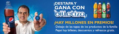 premio promocion billetiza pepsi Mexico 2011