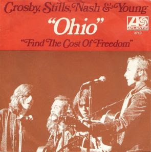 CSNY 'Ohio' American 45 picture sleeve