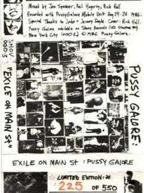 Pussy Galore Exile on Main Street Tape Cover