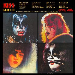 Kiss Alive 2 back cover