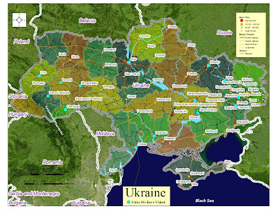 map of ukraine with cities. Map of Ukraine with Cities