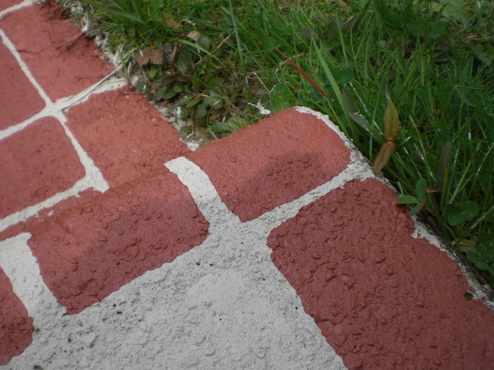 {Faux Brick Walkway}