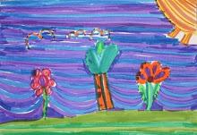 Grandchild Art... Expressive Line Landscape