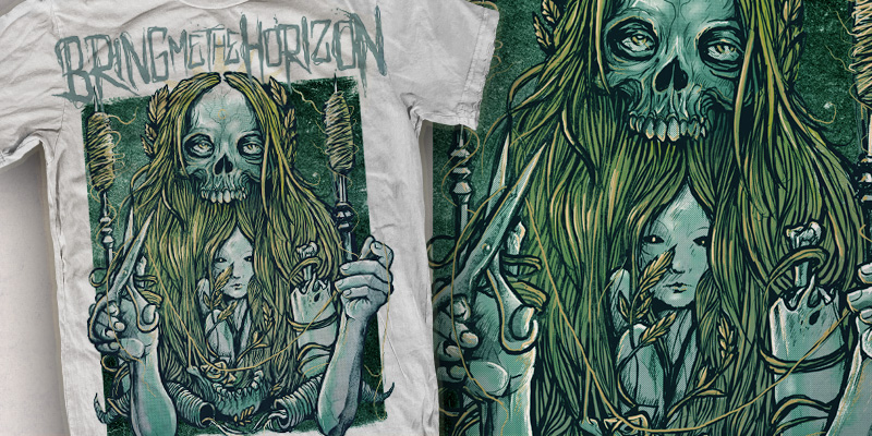grindesign the art of robert borbas bring me the horizon