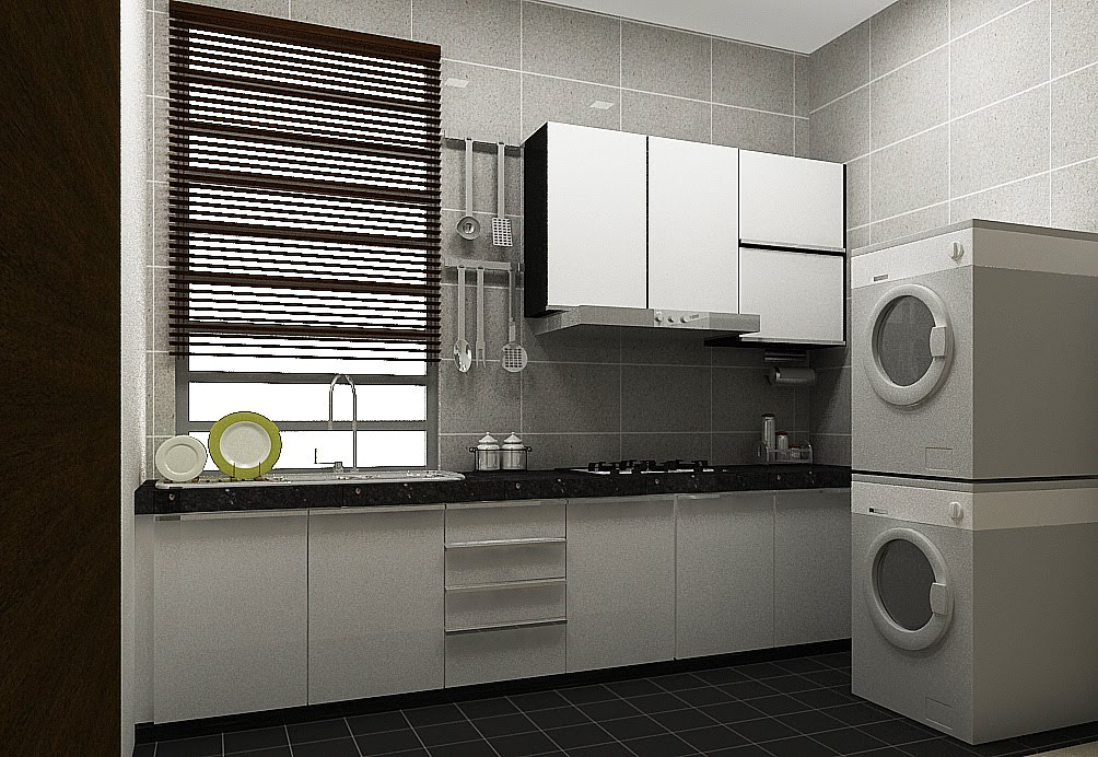 Modern wet kitchen design kitchen design ideas for Bathroom ideas malaysia