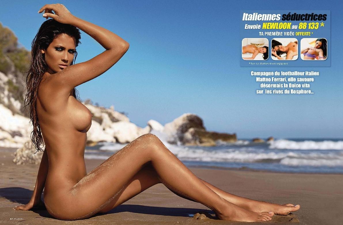 nude sexy woman on beach