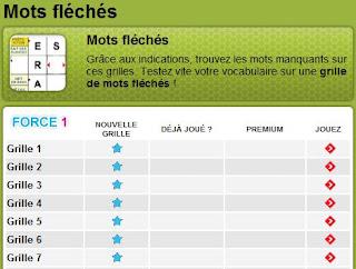 Grilles de mots fl ch s compl ter en ligne mots - Mots croises en ligne grille quotidienne ...