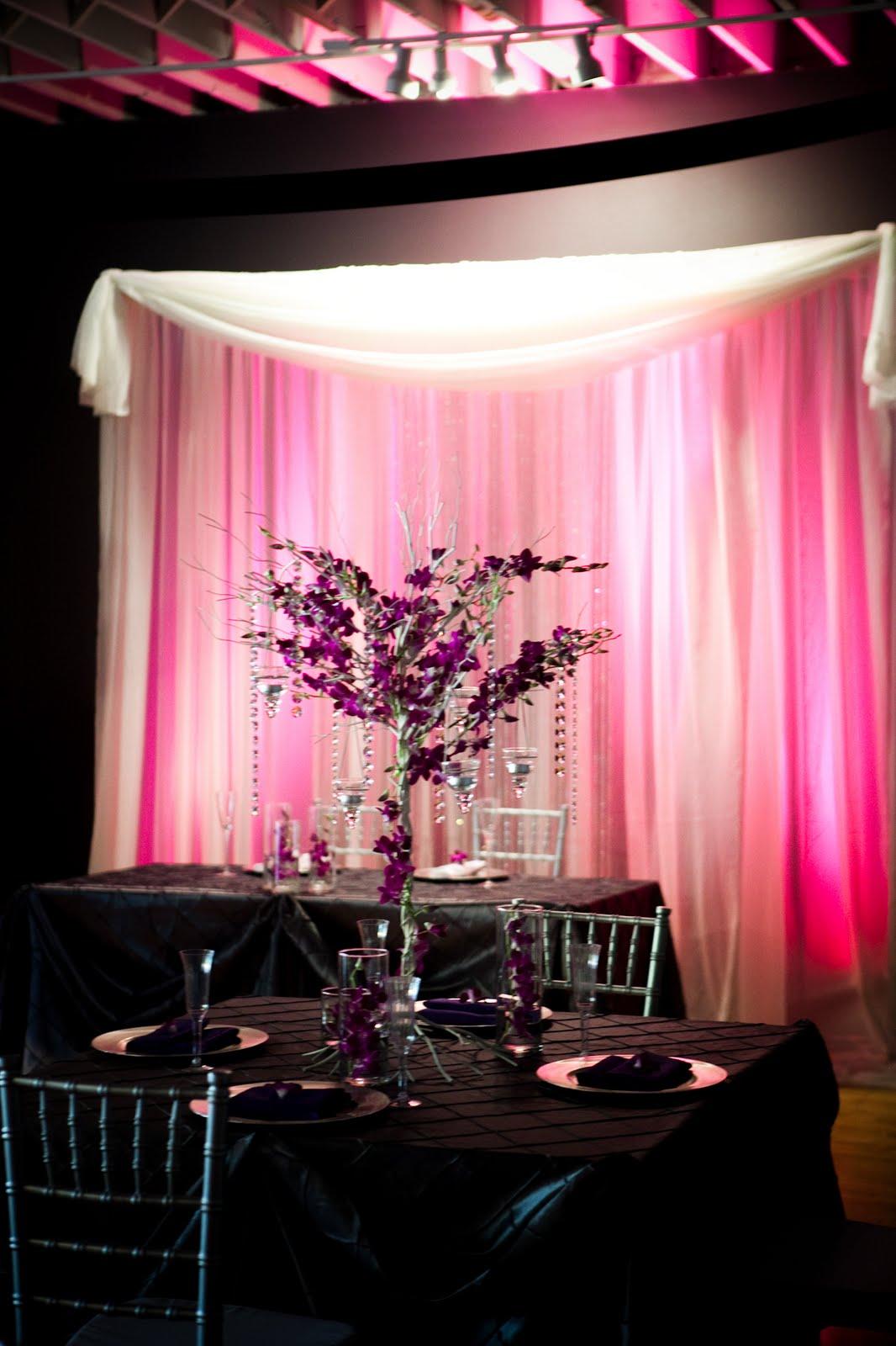 Purple Wedding Tablecloth