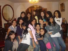 Con las chicas de tercero