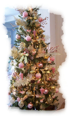 the pink gold christmas tree - Pink And Gold Christmas Decorations
