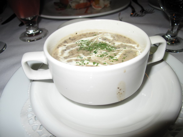 Mushroom Soup - was a bit too thick and peppery