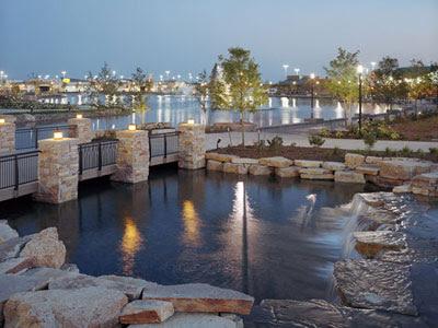 modern landscaping outdoor lights