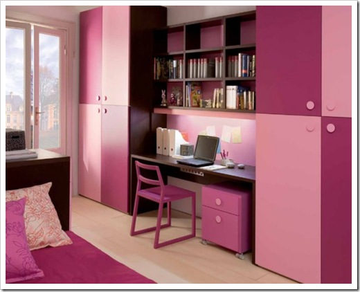 Contemporary Kids Room Furniture Decor In Pink For Girls Part 62
