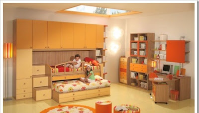great children room for two kids designed with large high light
