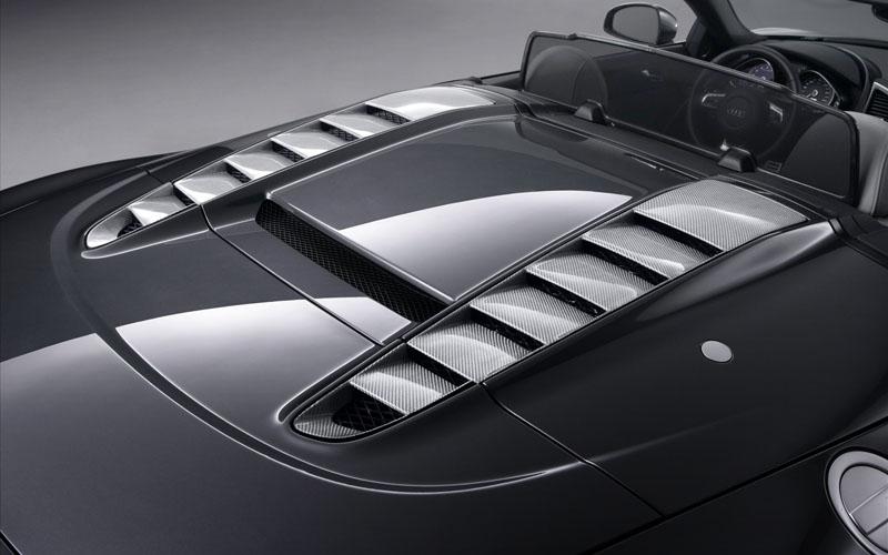 Audi R8 Spyder Black Wallpaper. ABT Audi R8 Spyder 2010 Hod