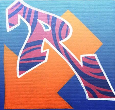 letter r graffiti. letter r graffiti style.