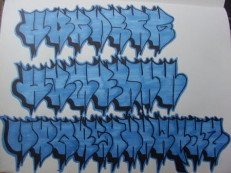 graffiti alphabets block letter a z
