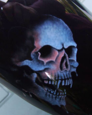 Airbrush Dragon Skull Art on Tank