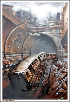 3D Murals Graffiti Art Cool Design
