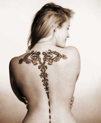 Capricorn Tattoo Sign on Back Body