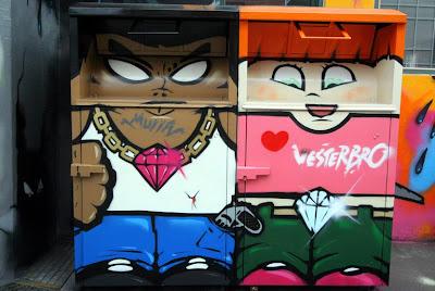 Graffiti character man and a woman