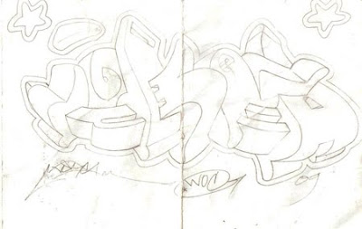 3D Graffiti Sketches Design