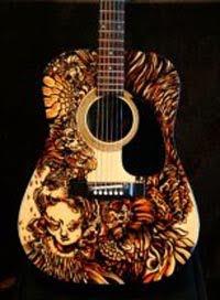 Sharpie Guitar Classic Airbrush Design