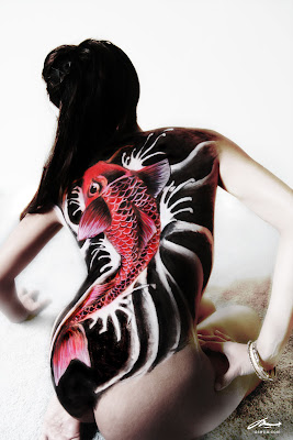 koi best design painting airbrush body