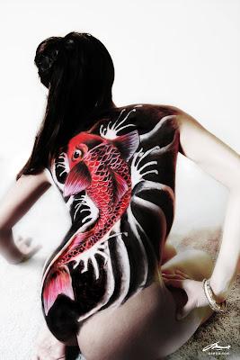 koi best design painting airbrush body