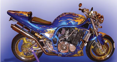 Suzuki Sport Motorcycle Airbrush