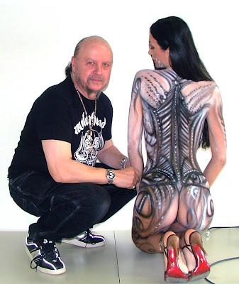 Artist and Female Models Airbrush