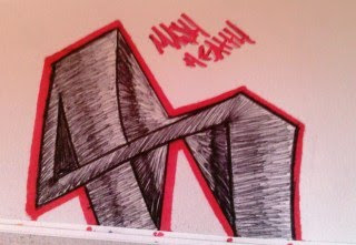 Sample Graffiti Letter H