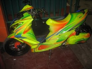 Yamaha mio soul airbrush modified