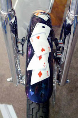 Casino Airbrush Motorcycle Front Fender