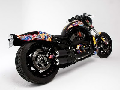 Modification sporty Airbrush Harley-Davidson Night Road 6
