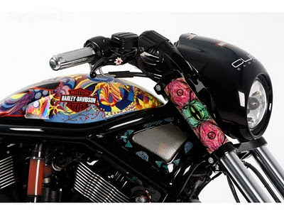 Modification sporty Airbrush Harley-Davidson Night Road 2