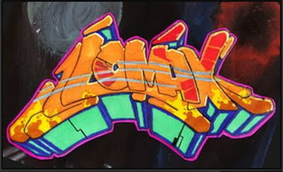 MAKE 3D GRAFFITI ALPHABETS YELLOW COLOR