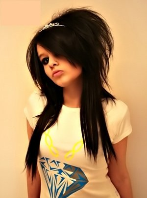 Emo hairstyles and emo haircuts are characterized by often black