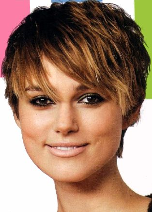 Katie Holmes Cover OF Celebrity Hairstyles 2010 Magazine - Short Hair Winter