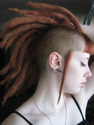"""Thus there wouldn't be true """"punk hairstyles"""", because after a while it"""