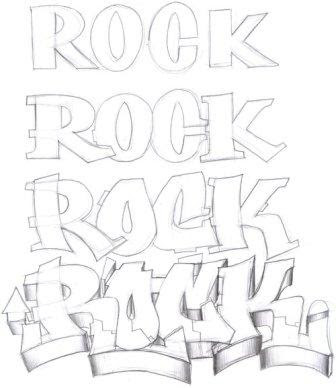 ROCK DRAW GRAFFITI ALPHABET