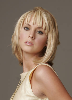 medium hairstyles with side swept bangs. Side