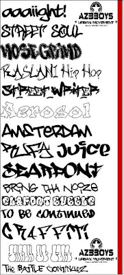 Cool Graffiti Font Sample Beginner Drawing