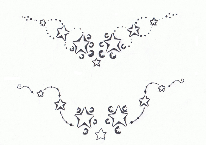 Trend Lower Back Tattoo: Star Tribal Tattoos for Girls