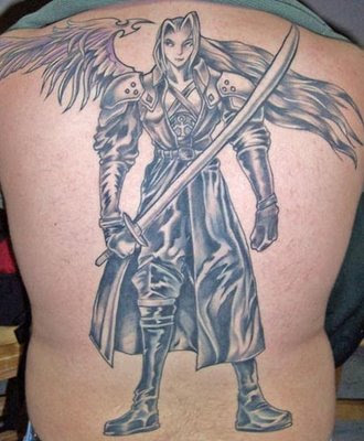 sephiroth guardian angel tattoo design tribal tattoos zimbio