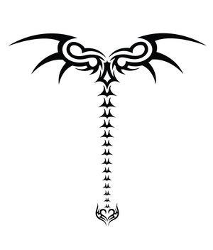 Spine Tribal Tattoos Design 3
