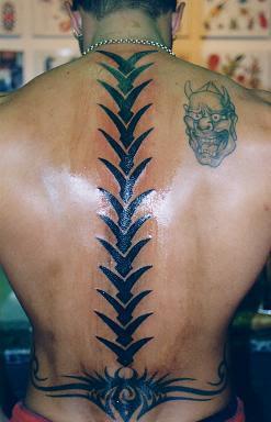 Spine Tribal Tattoos Design 1