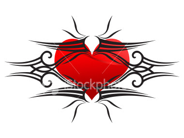 Valentine Heart Tattoo Designs Art