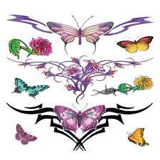 Tribal Lower Back Temporary Tattoos design