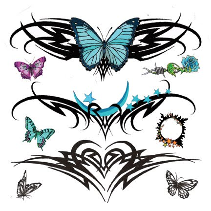 Tribal Lower Back Temporary Tattoos Design Picture